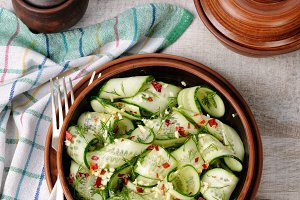 Cucumber spicy salad