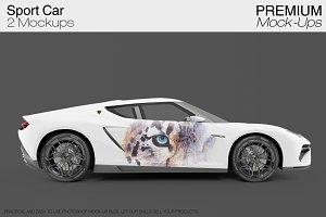 Sport Car Mockup