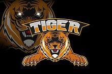 Logo tiger mascot team sport