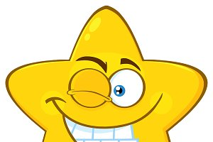 Smiling Yellow Star Character