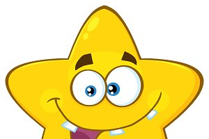 Crazy Yellow Star Character