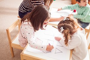 Preschoolers learn letters
