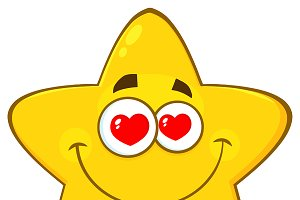Loving Yellow Star Character