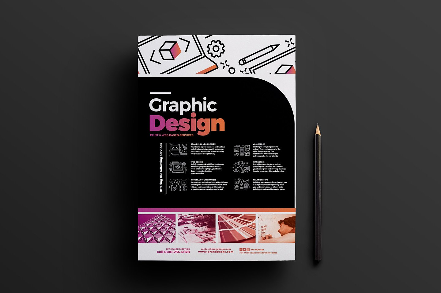 Graphic Designer Poster Template 5 ~ Flyer Templates ~ Creative Market