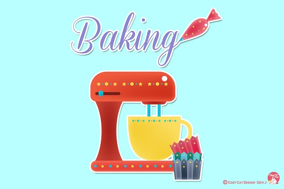 Digital Clipart Baking