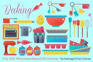 Digital Clipart Baking