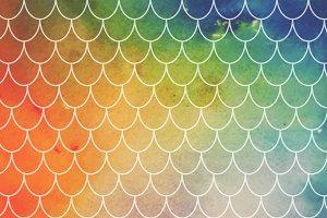 Tye-Dye Watercolor Mermaid Scales