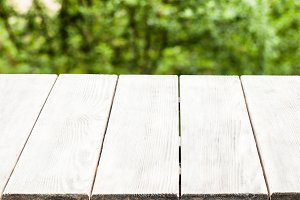 A rustic wooden bench