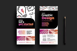 Graphic Designer DL Card Template