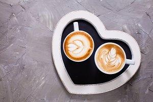 Love couple of cappuccino