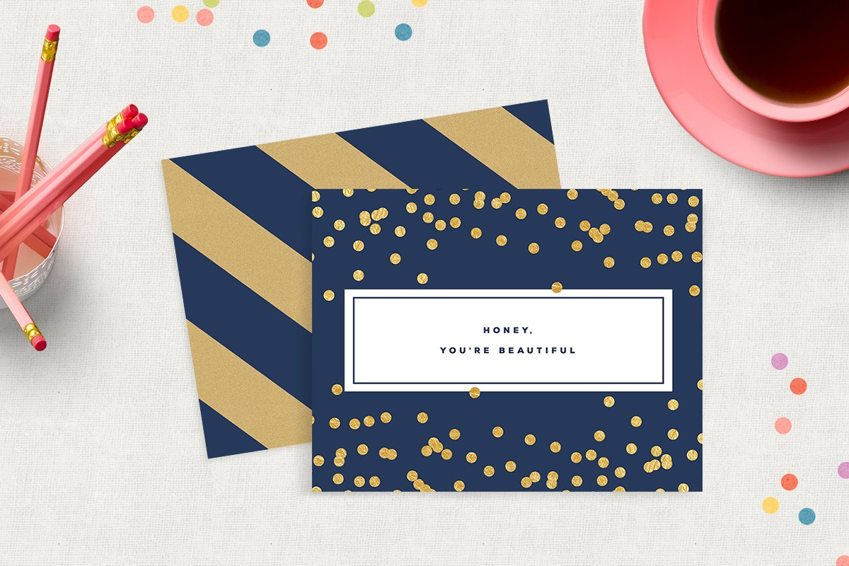 Printable Birthday Stationery Paper ~ Printable just because greeting card ~ stationery templates