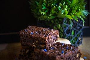 Dessert on dark background