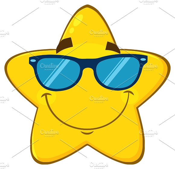 Smiling Yellow Star With Sunglasses
