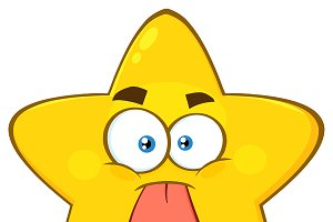 Funny Yellow Star Character