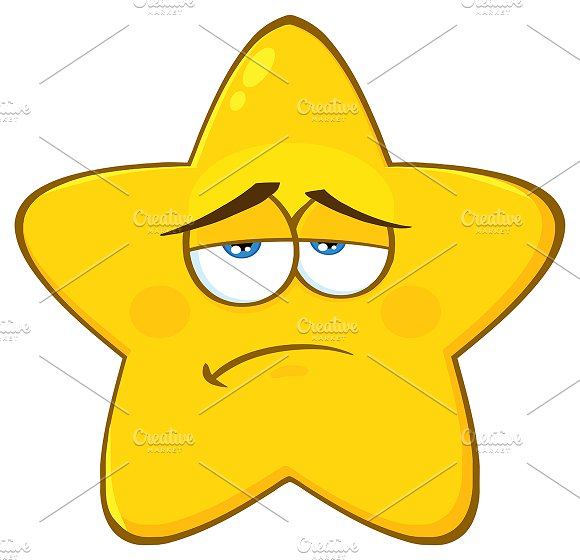 Sadness Yellow Star Character