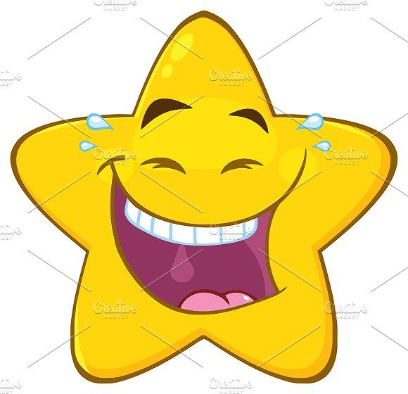 Happy Yellow Star Character