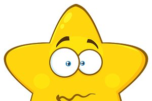 Nervous Yellow Star Character
