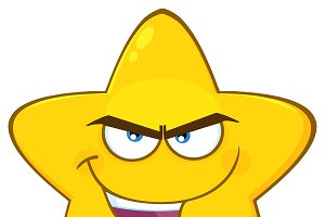 Evil Yellow Star Character