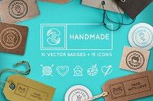 Handmade - handcrafted goods badges