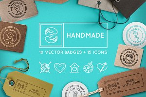 Handmade - handcrafted goods badges