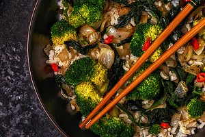 asian stir fry rice