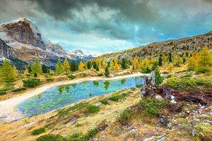 Stunning autumn landscape in Italy