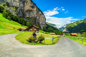 Lauterbrunnen alpine village