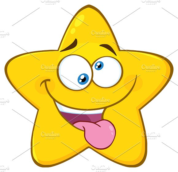 Mad Yellow Star Character