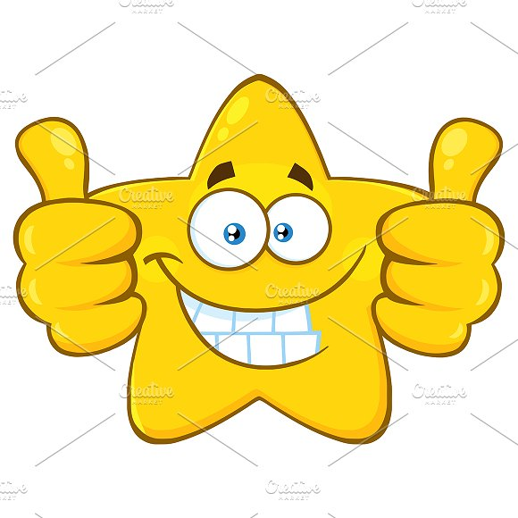 Yellow Star Giving Two Thumbs Up