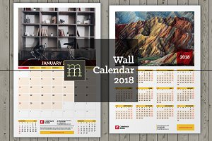 Wall Calendar 2018 (WC006-18)