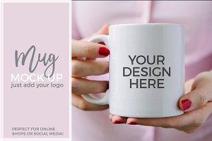 Coffee Mug Styled Stock Photo