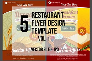 5 Restaurant Flyer Template vol.1