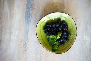 Organic blueberries or bilberries