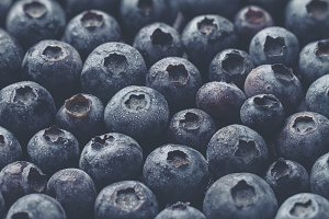 Tasty Macro Blueberries Fruits Food