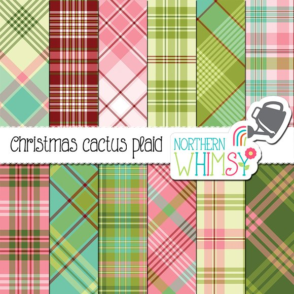 Plaid Christmas Patterns