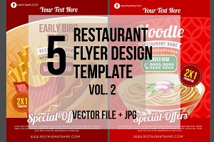 5 Restaurant Flyer Template vol.2