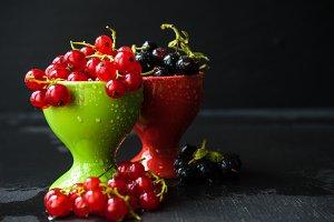 Organic summer berries