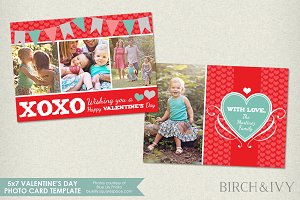 Valentine's Day Photo Card Template