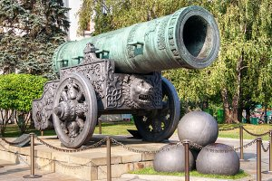Biggest cannon in Moscow Kremlin