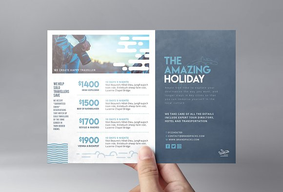 Travel Company Flyer Template 2