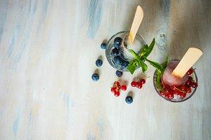 Summer organic food concept