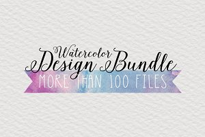 HUGE Watercolor Design Bundle SALE