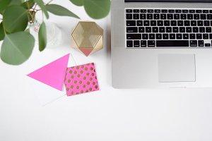 Pink + Gold Desktop