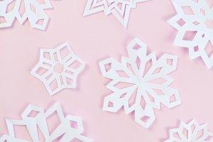 Blush Snowflakes
