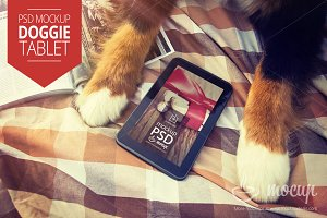 PSD Mockup tablet Doggie