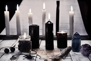 Black candles 1