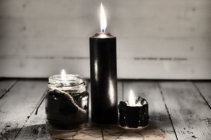 Black candles 3