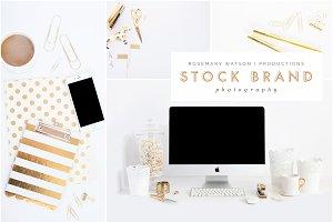 Gold Desktop Styled Stock Bundle