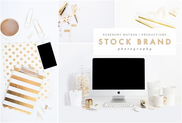 Gold Desktop Styled Stock Bundle