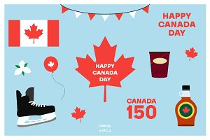 CANADA DAY Vector Illustrations